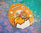 Orange Gudetama Stickers Set / Kawaii Lazy Egg 60 Sticker Flakes / Transparent Stickers for Planners, Crafts, Scrapbooking, Stationary