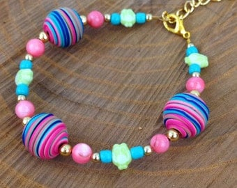 Super Fun & Colorful Owl Bracelet
