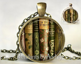 Library,Book Necklace, Bible, Book Pendant,Gift for Writer,Jewelry,Gift for Reader,Librarian,Book Lover,Gift for Librarian