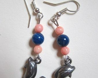 Roman dolphin earrings