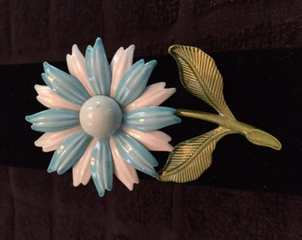 Vintage Enameled Flower Brooch
