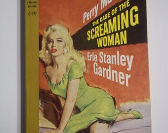 Perry Mason Solves the Case of the Screaming Woman by Erle Stanley Gardner Cardinal Books 1959 Vintage Mystery Paperback GGA
