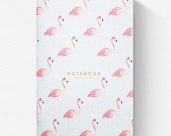 Pair of Blank Flamingo and Zebra Pocket Notebooks