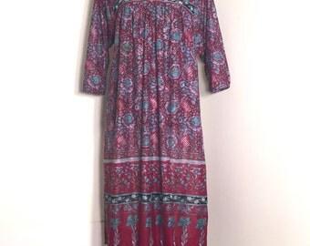 70's Hippy Peasant Dress