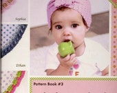 """KIT Baby Shower Edgit! Book & Crochet Hook Set Book #3 """"Baby Shower"""" by Cony Larsen Ammee Co. Learn to Crochet on the Edge!"""