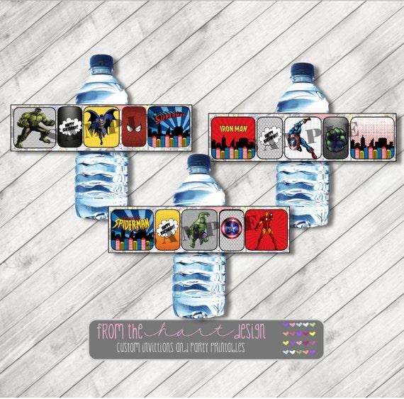 Printable water bottle labels superhero avenger comic marvel - Marvel spiderman comics pdf ...