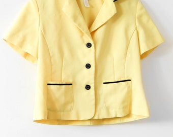 Vintage Yellow Mod Top