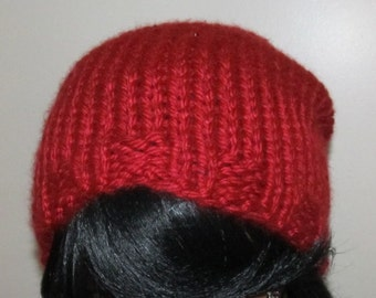 Chunky Slouch Beanie / Holiday Gift / Adult Size / Soft Beanie