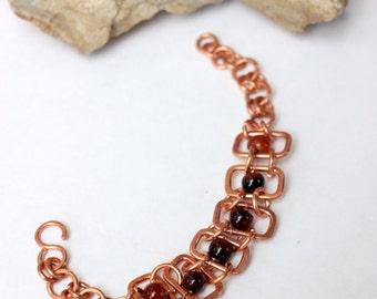 Copper wirewrapped boho bracelet handmade wire wrap bracelets hand made copper jewelry wire wrapped