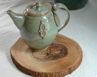 Handmade Green Teapot
