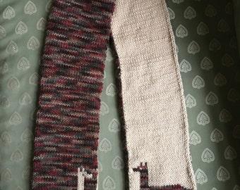 Double knit llama scarf