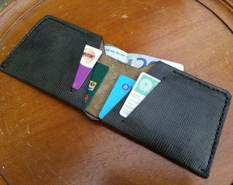 Leather Mens Wallet - Minimal wallet for men - Womens wallet - Handmade and Hand stitched in Genuine Leather by Claudio.