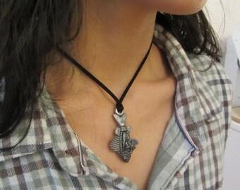 Fish Necklace, Fish Pendant, Angler, Fisherman, Fish Anatomy Ichthyology
