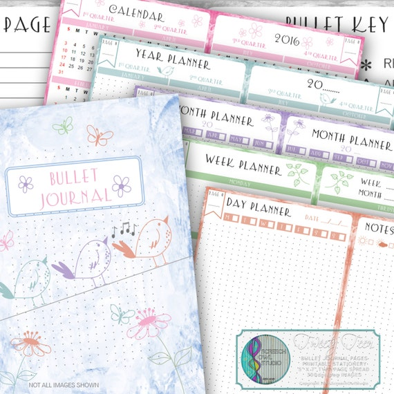 Bullet Journal Printable Journal Pages Diary Planner – Diary Paper Printable