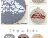 DIY embroidery KIT, moth embroidery pattern, modern hand embroidery pattern, modern embroidery kit, moth needlecraft kit, moth pattern