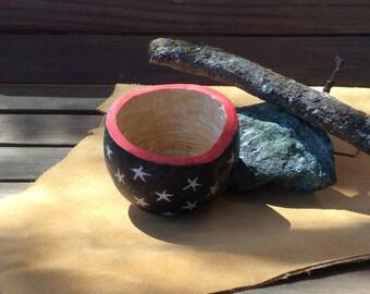 Star spangled ring holder gourd