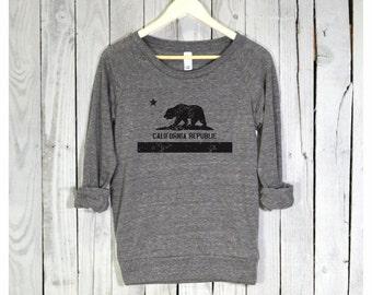 California Shirt. California Pullover. Raglan Sleeves. Alternative Apparel.