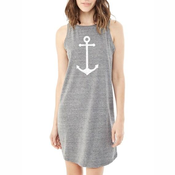 Anchor Dress. Anchor Shirt. Nautical Dress. Summer Dress.