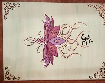 Om Lotus Flower