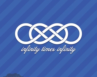 Infinity Times Infinity Symbol Vinyl Decal Sticker Double Infinite