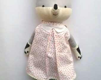 LOTTE the fox. made-to-order. gift for children. eco toy. stuffed fox. toy fox. kids room decorative fox.