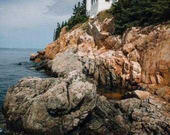 Maine Landscape Lighthouse Photography, Bass Harbor Head Light Photography, Acadia National Park Photography, Nautical Wall Art