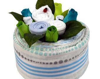 Blue Bamboo Nappy Cake Mini - Large