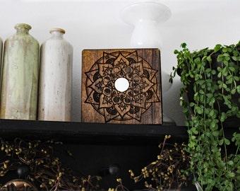 Above Door/Shelf Sitter~Moon Phase Mandala Negativity Diffuser