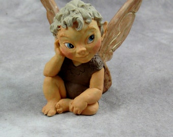 1988 Elanti QUEST of the STONES Figurine by Willitts Designs Winged Elf or Fairy