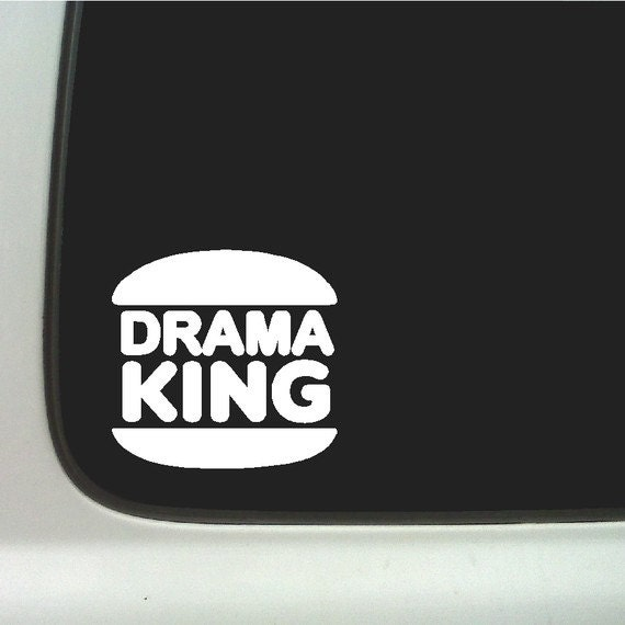 - Drama King Decal - Car Decal Sticker - Window Decal Sticker - Car ...