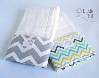 2-pack Premium Burp Cloths, Spit-up Stopper Pocket, Baby Shower Gift, Breastfeeding Gift , Great for Nursing Moms, Nursing Accessory