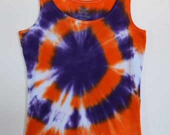 Tie-Dye Orange & Purple Bullseye Women's Size M Tank