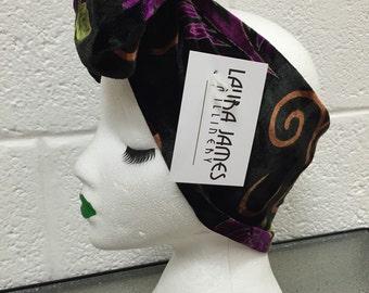 Lucillle Velvet Bow Headband in Purple Orchid