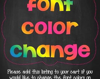 A La Carte - Change Font Colors