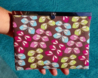 Wallet, Clutch Wallet, Metal Frame Wallet in Fun Design - Made in Maui