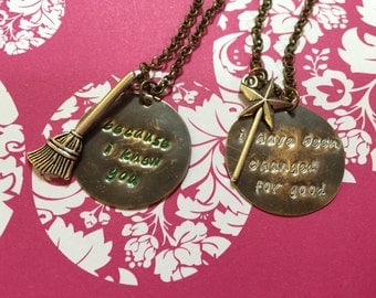 Wicked For Good friendship necklaces