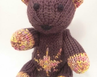 Franklin the Hand Knit Teddy Bear, Knitted Bear, Knitted Toys, Bear, Children, Baby, Gift, Stuffed Animal, Toy, Hand Knit Toy children's toy