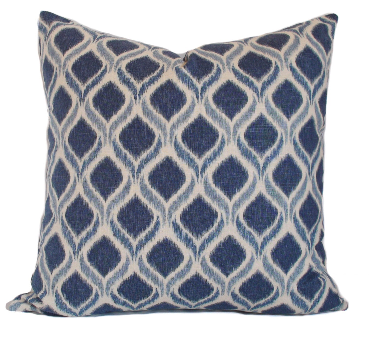 22x22 Decorative Pillows : Blue pillow cover 22x22 Blue throw pillows Toss pillow