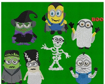 Set of 7 Halloween Minions