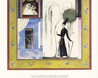 Arabian Nights vintage illustration folk tale fairy tale Kay Nielsen fine art print home decor 8.5x11 inches