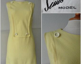 60s Vintage Mini Dress // Sims Model // Made In Denmark