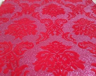 red wedding aisle runner. red \u0026 pink glitter velvet aisle runner! non slip, shed chunky glitter sparkle wedding runner