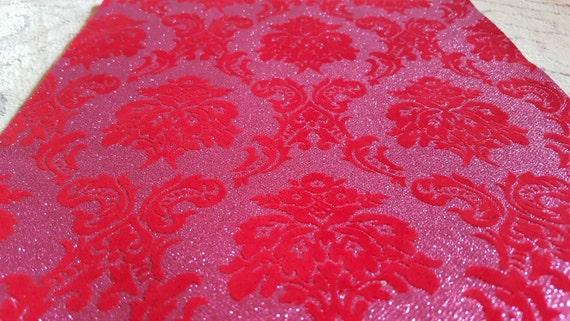Red Pink GLITTER Velvet Aisle Runner Non Slip Non Shed