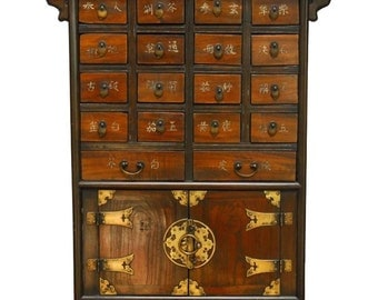 Chinese Medicine Apothecary Cabinet