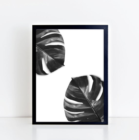 Monstera plant digital wall art print instant download art for Instant interior wall