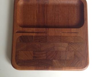 Vintage Teak Kalmar Designs Danish Cheese Tray