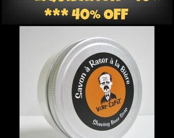 SALE***40 %OFF*** UNScented Beer shaving soap