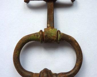 antique french door knocker, door pull