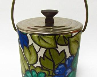 Vintage Sixties Floral Ice Bucket