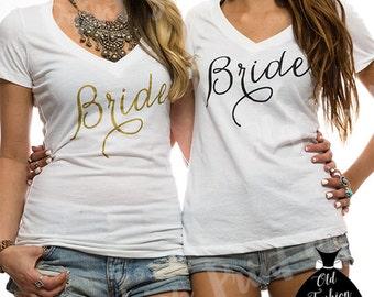 Bride Shirt. // Bridesmaid Shirt. // Wifey Shirt. // Bridal Party Shirts. //